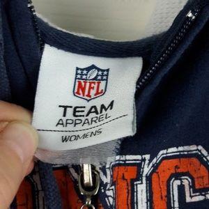 NFL Tops - Denver Broncos Zip up Hoodie Jacket Sz. S